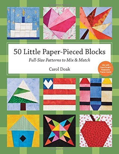 50 Little paper pieced blocks